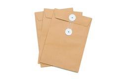 3 stukken enveloppen Royalty-vrije Stock Fotografie