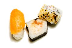 3 sushi Royalty Free Stock Photography