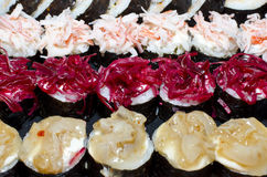 3 sushi de ligne Photo stock