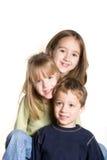 3 syskon royaltyfria foton
