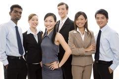3 szczęśliwa biznesowej zespołu obrazy stock