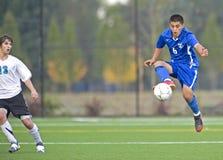 3 szkół średnich piłka nożna Fotografia Stock