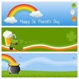3 sztandarów dzień Patrick s st Zdjęcia Stock