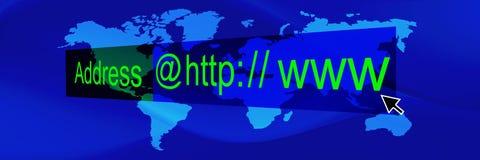 3 sztandaru błękit świat ilustracja wektor
