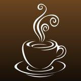 3 sztuk kawy linia Zdjęcia Stock