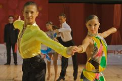 3 taniec Zdjęcie Stock