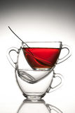 3 tazze di tè Fotografia Stock