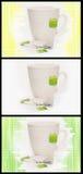 3 Teacup-Varianten Stockfoto