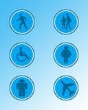 3 teckensymboler stock illustrationer