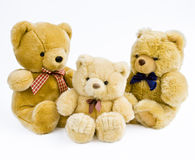 3 teddies Royalty Free Stock Photography
