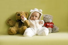 3 Teddy bears Royalty Free Stock Images