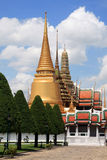 3 temples of the Grand Palace in Bangkok Stock Image