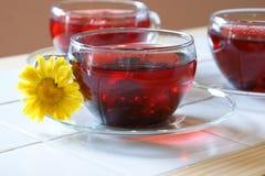 3 thés de fruit/herbe Photographie stock libre de droits