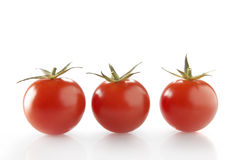 The 3 tomatoes!. 3 tomatoes with white background Royalty Free Stock Image