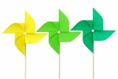3 toy pinwheel. Toy pinwheel on white background Stock Photography