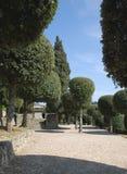 3 trädgårdar offentliga tuscany Royaltyfri Fotografi