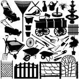 3 trädgårds- home objekt royaltyfri illustrationer