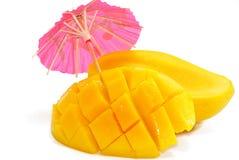 3 tropiska mangoserie Fotografering för Bildbyråer