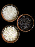 3 types of rice clipping path Stock Photography