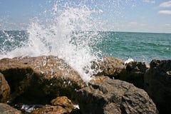 3 vaggar waves Arkivbild