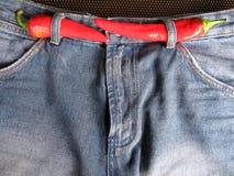 3 varma jeans Royaltyfri Fotografi