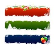 3 vastgestelde Kerstmisbanner stock illustratie