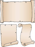 3 vecchi documenti in bianco Immagini Stock