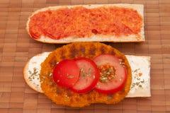 3 vegetarisches schnitzel Стоковая Фотография RF