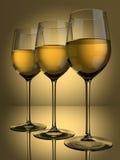 3 vidrios del vino blanco ilustración del vector