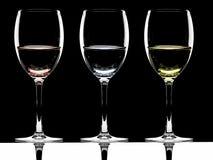 3 vidros fotografia de stock