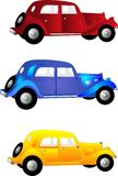 3 Vintage cars Royalty Free Stock Photo