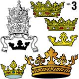 3 vol royal crown Zdjęcie Stock