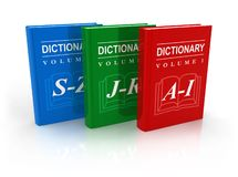 3-volume dictionary Stock Image