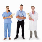 3 w studiu Medyczny pięcioliniowy portret zdjęcie royalty free
