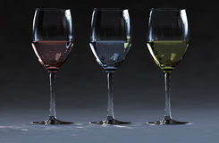 3 wine Stock Photo