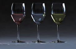 3 wino Zdjęcie Stock