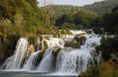 3 wodospady krka fotografia royalty free