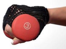 3 womans веса фунта удерживания руки крупного плана Стоковые Фотографии RF
