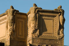 3 Women Backs. Statues in Palace of fine arts San Francisco stock photos