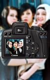 3 Women Caught on Dslr Camera Stock Photos
