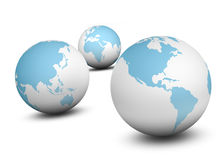 3 world globe Stock Photos