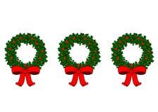 3 Wreaths Stock Photography