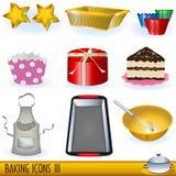 3 wypiekowej ikony Zdjęcie Royalty Free