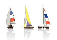 3 yachts Stock Photography
