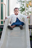 3-year old African American Girl Playing Royalty Free Stock Photo