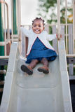 3-year old African American Girl Playing Royalty Free Stock Images