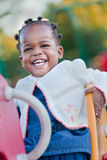 3-year old African American Girl Playing Royalty Free Stock Photos