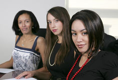 3 young businesswomen Stock Photos