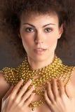 3 złoto kobieta Obrazy Royalty Free