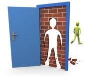 3 zamknięte drzwi Zdjęcie Royalty Free
